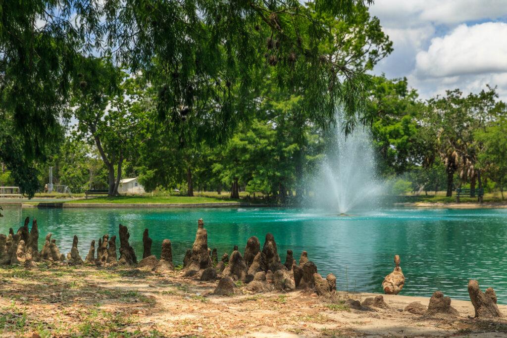Riverside Park fountain, Victoria, Texas.