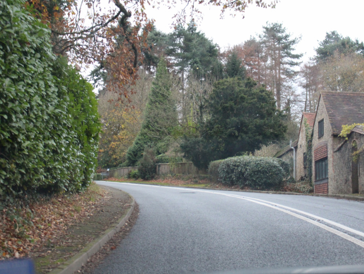 Road in the English countryside