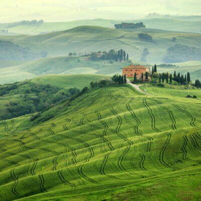 Road near Siena in Tuscany, Italy.