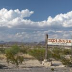 Road sign for Terlingua Ghost Town near Big Bend National Park, Texas.