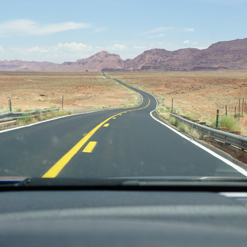 Road through northern Arizona.