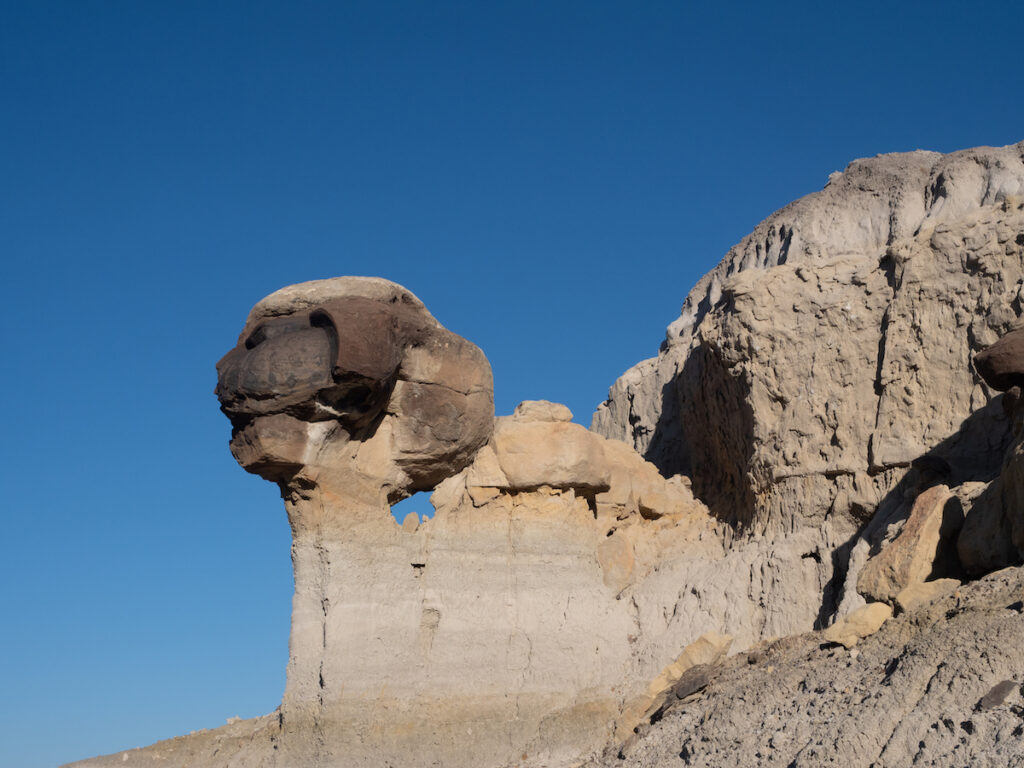 Rock formations at Lybrook Badlands in New Mexico.