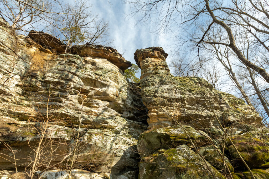 Rock formations in Giant City State Park, Illinois.