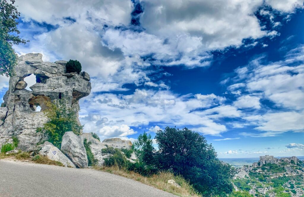 Rock formations in the Alpilles mountains.