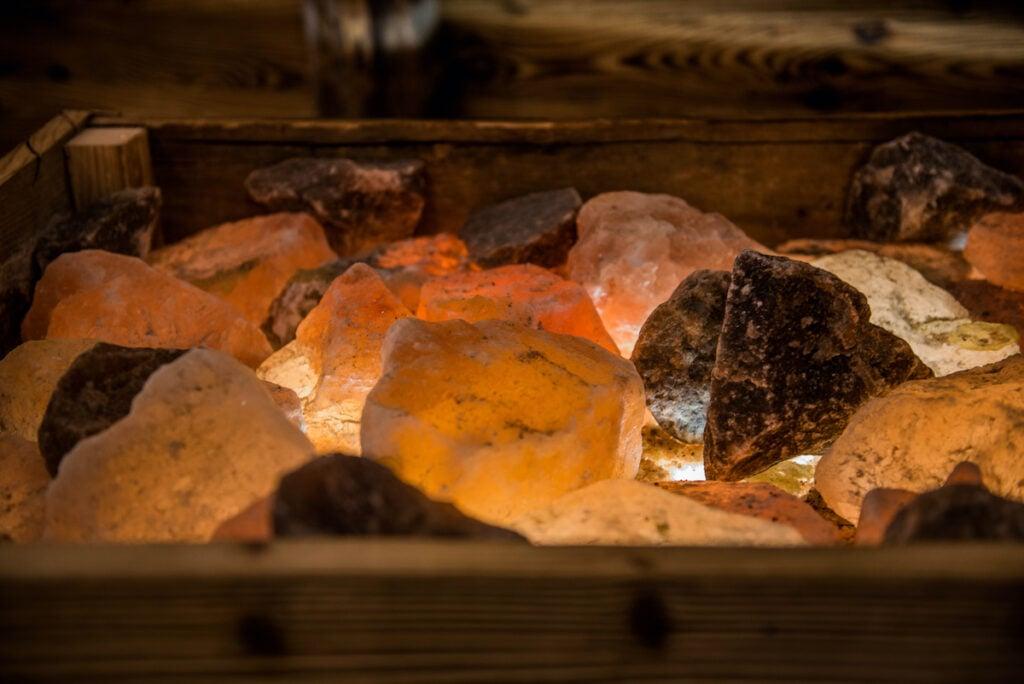 Rock salt from the mines in Hallstatt, Austria.