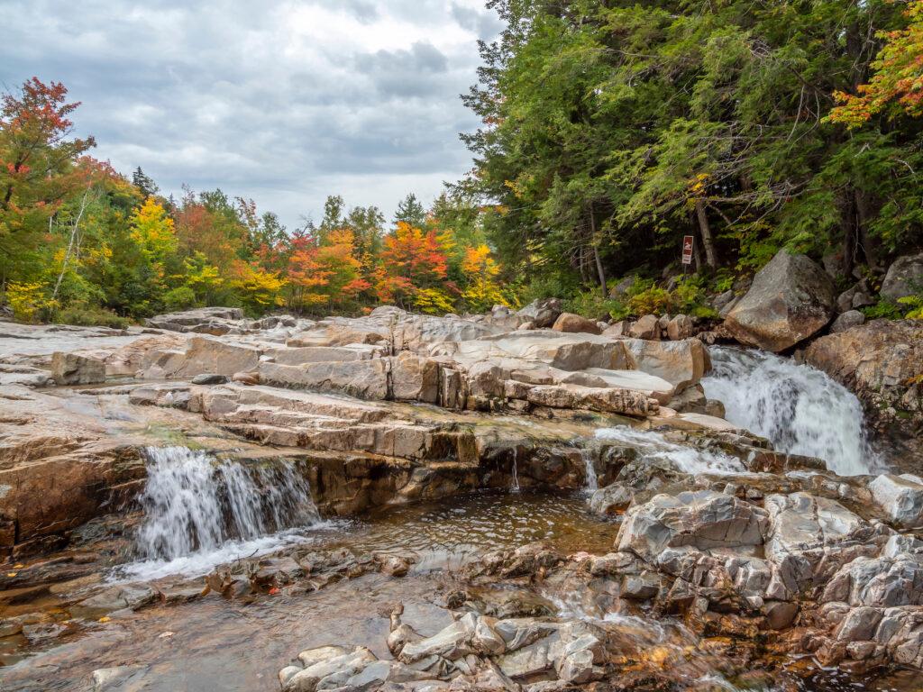 Rocky Gorge Scenic Area in New Hampshire.
