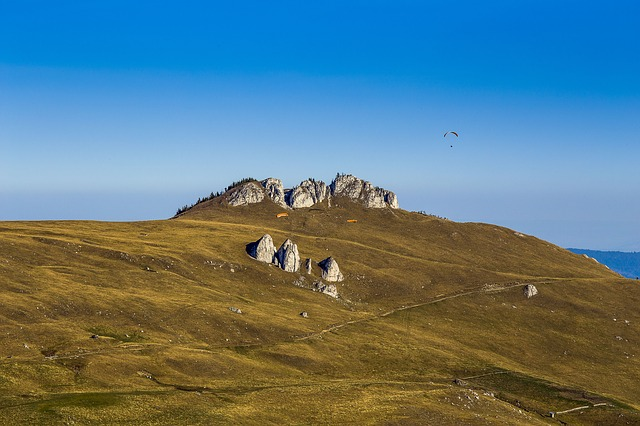 Rocky hilltop, Bucovina Romania