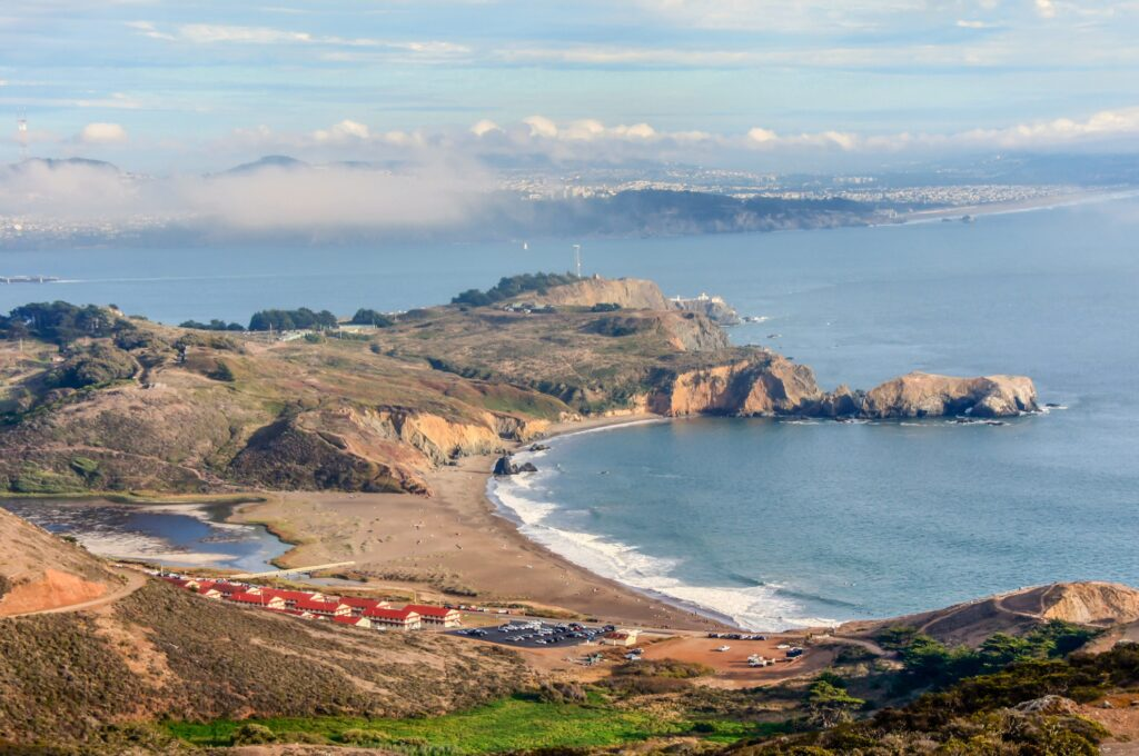 Rodeo Beach and Fort Cronkhite in the Marin Headlands.