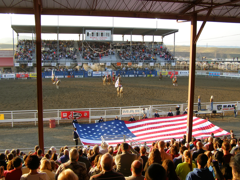 rodeo stampede in cody wyoming