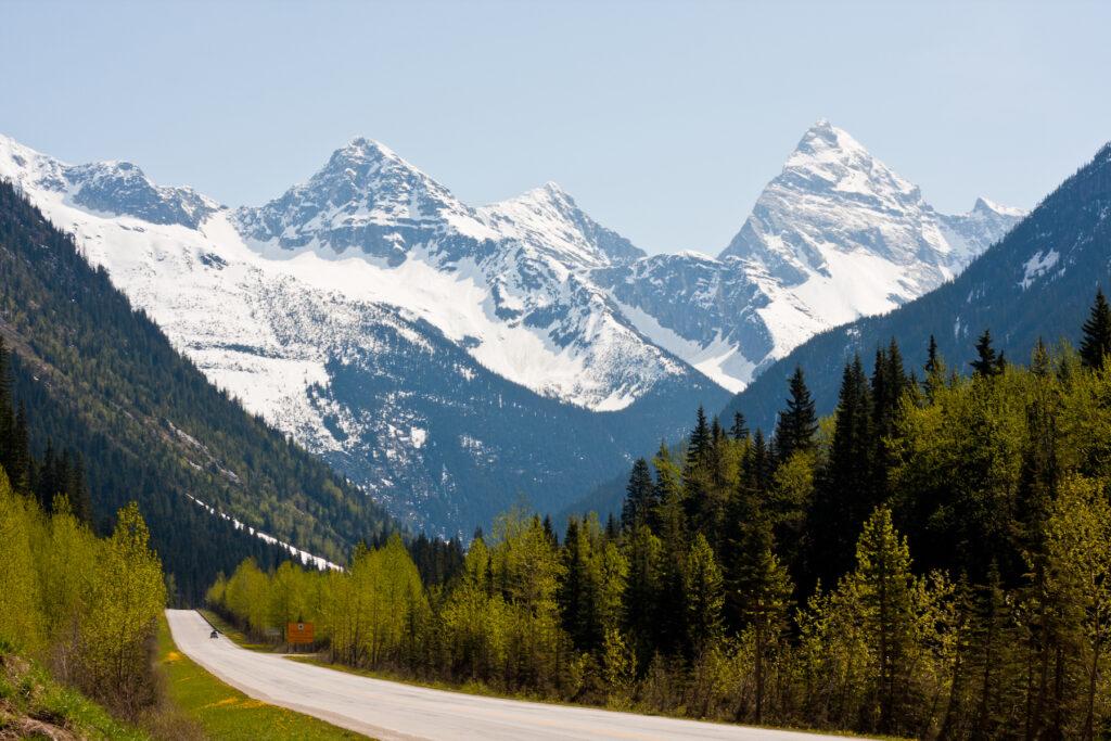 Rogers Pass in British Columbia, Canada.