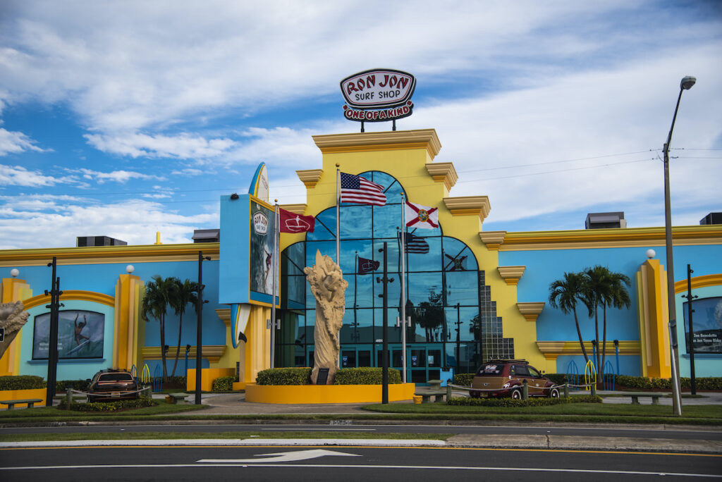 Rom Jon Surf Shop in Cocoa Beach, Florida.