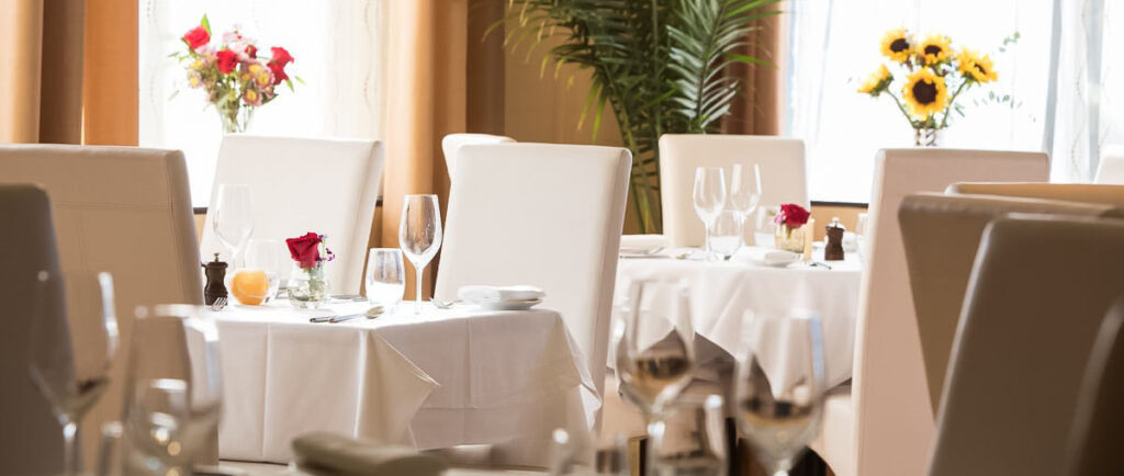 Romantic seating at Le Yaca French Restaurant.
