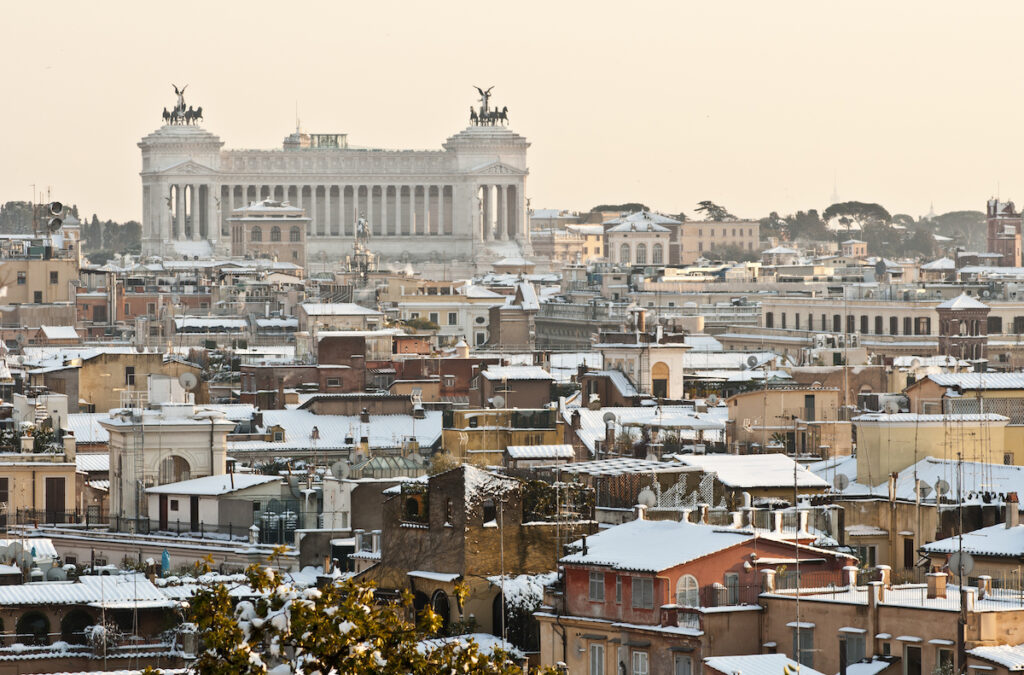 Rome, Italy, during the winter time.