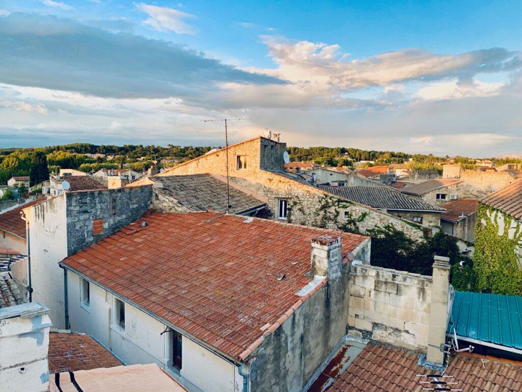 Rooftops of Saint-Remy-de-Provence, France.
