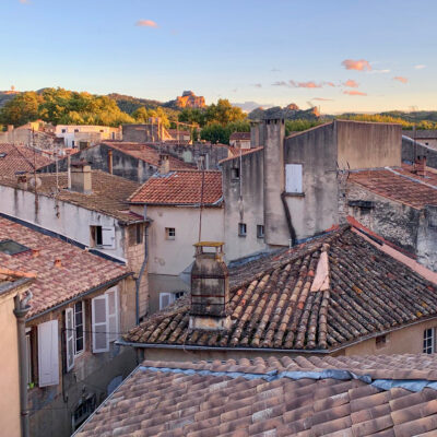 Rooftops of Saint-Remy-de-Provence, France.