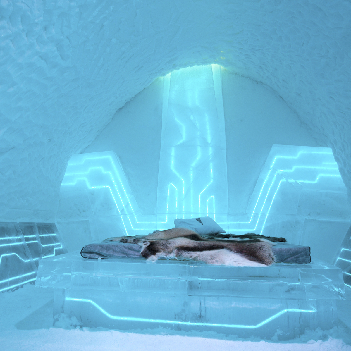 Room at the IceHotel in Sweden