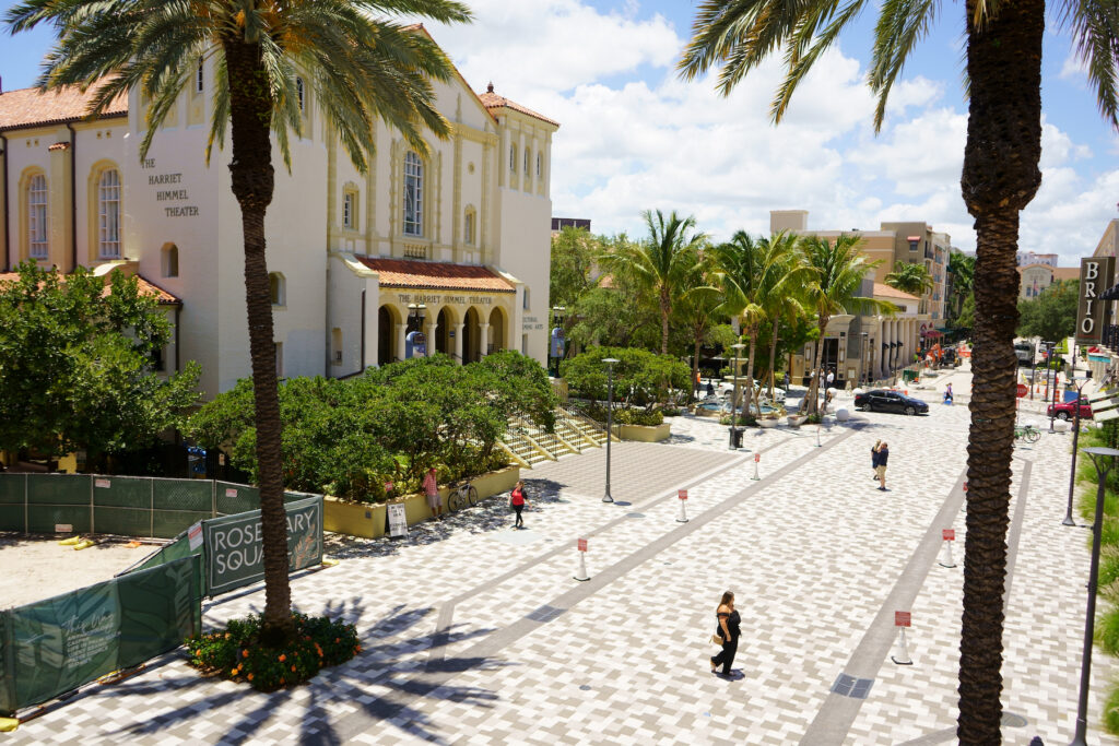 Rosemary Square in West Palm Beach, Florida.