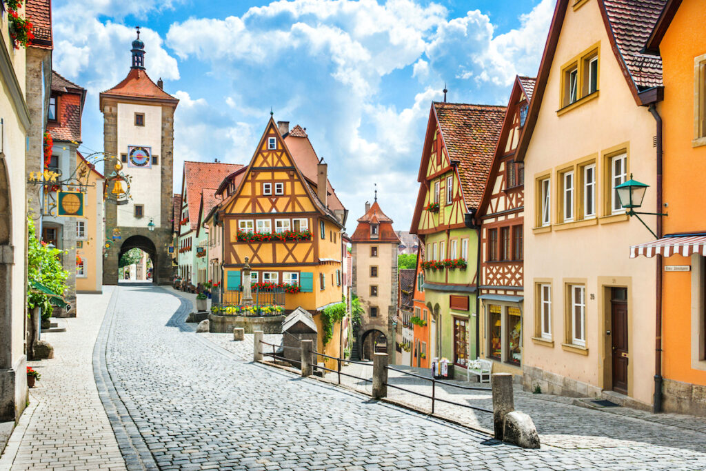 Rothenburg ob der Tauber in Bavaria, Germany.