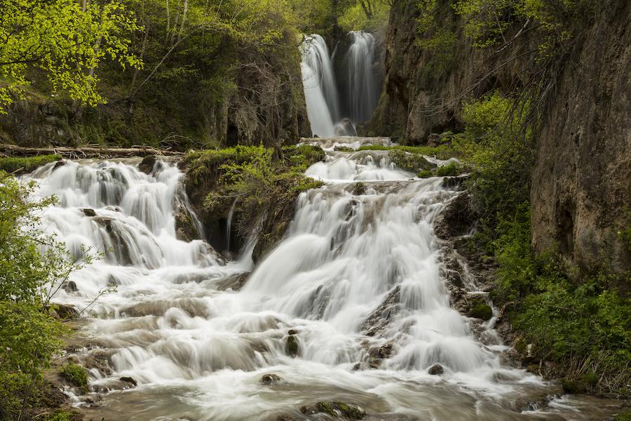 Roughklock Falls in Spearfish Canyon, South Dakota.