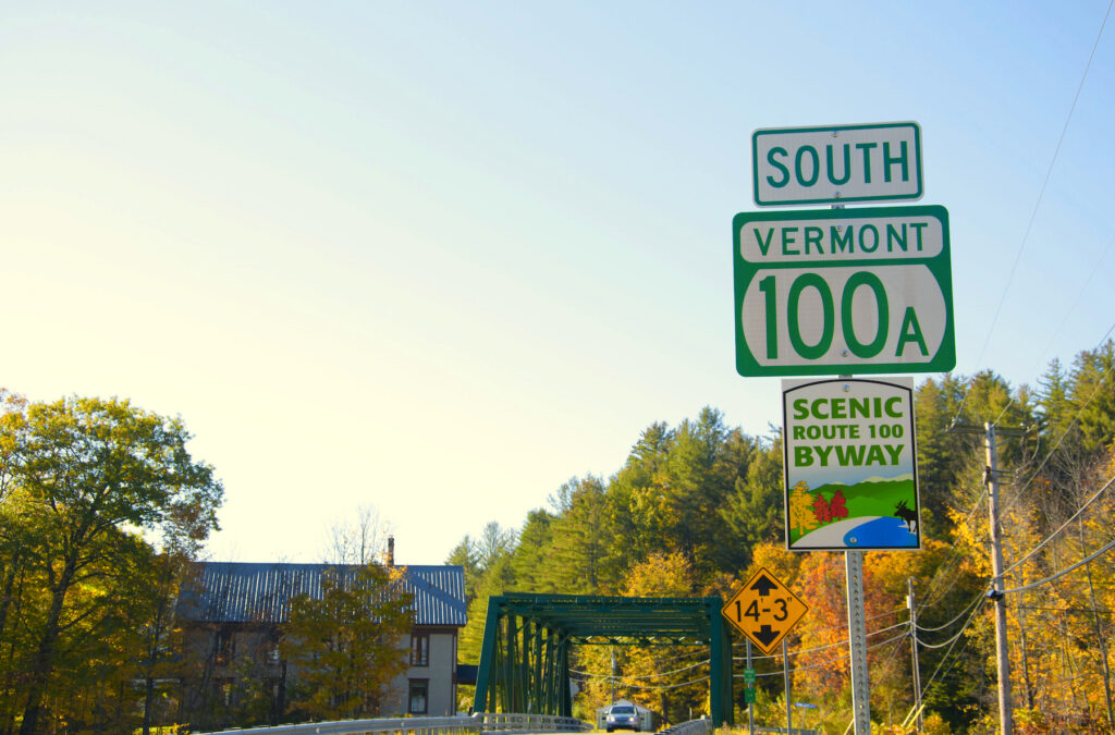 Route 100 in Vermont.