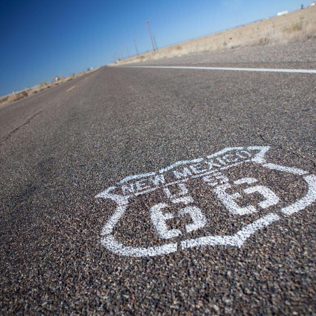 Route 66 through New Mexico.