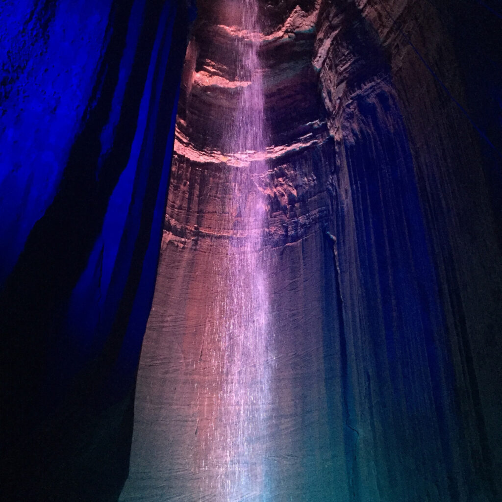 Ruby Falls, an underground waterfall at Lookout Mountain.
