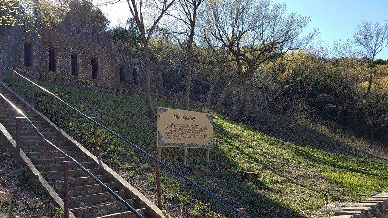 Ruins along Turner Falls Park in Davis, Oklahoma.
