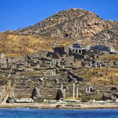 Ruins, Delos, Greece.