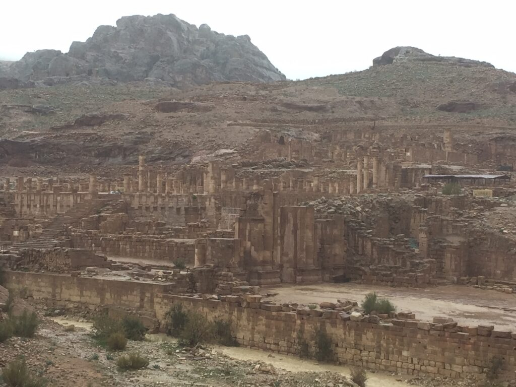 Ruins in Petra, Jordan.