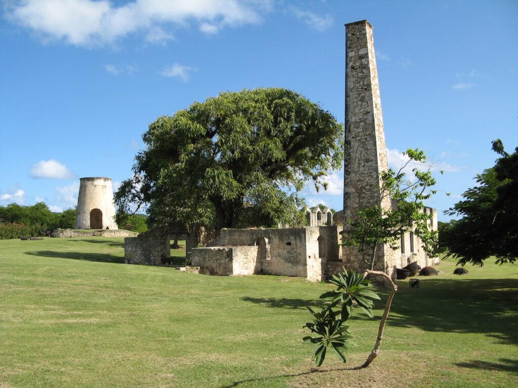 Ruins of buildings on Marie-Galante.