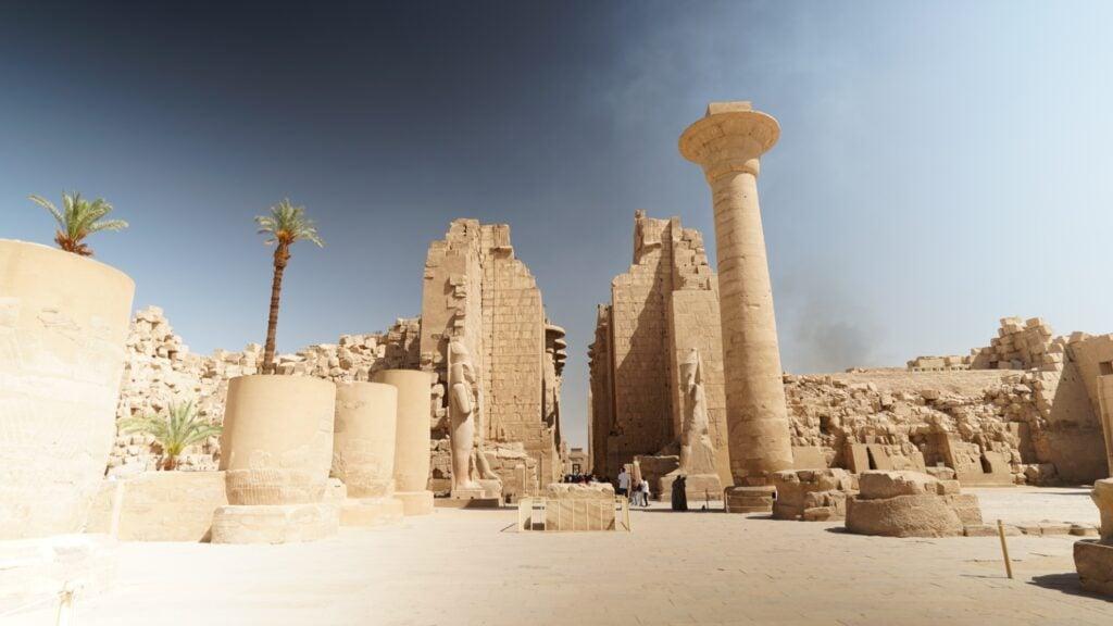 Ruins of Karnak Temple in Egypt.