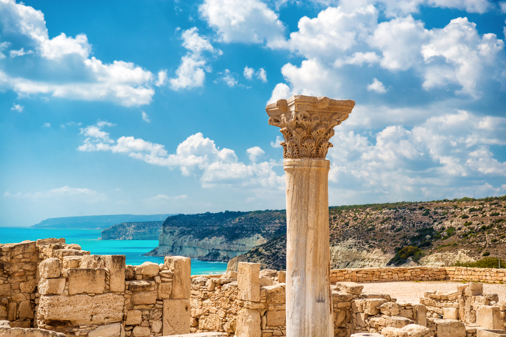 ruins of Kourion in Limassol on Cyprus