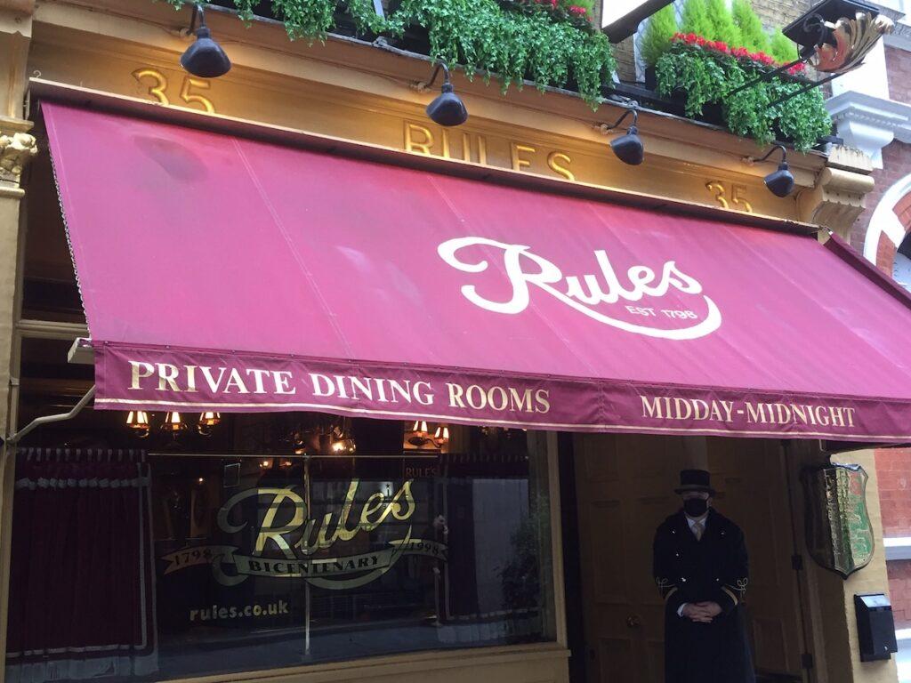 Rules, London's oldest restaurant.