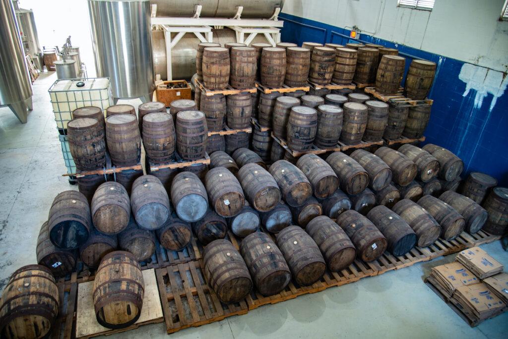 Rum barrels at John Watling's Distillery in Nassau.