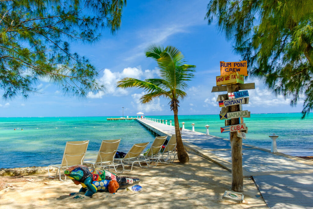 Rum Point on Grand Cayman island.