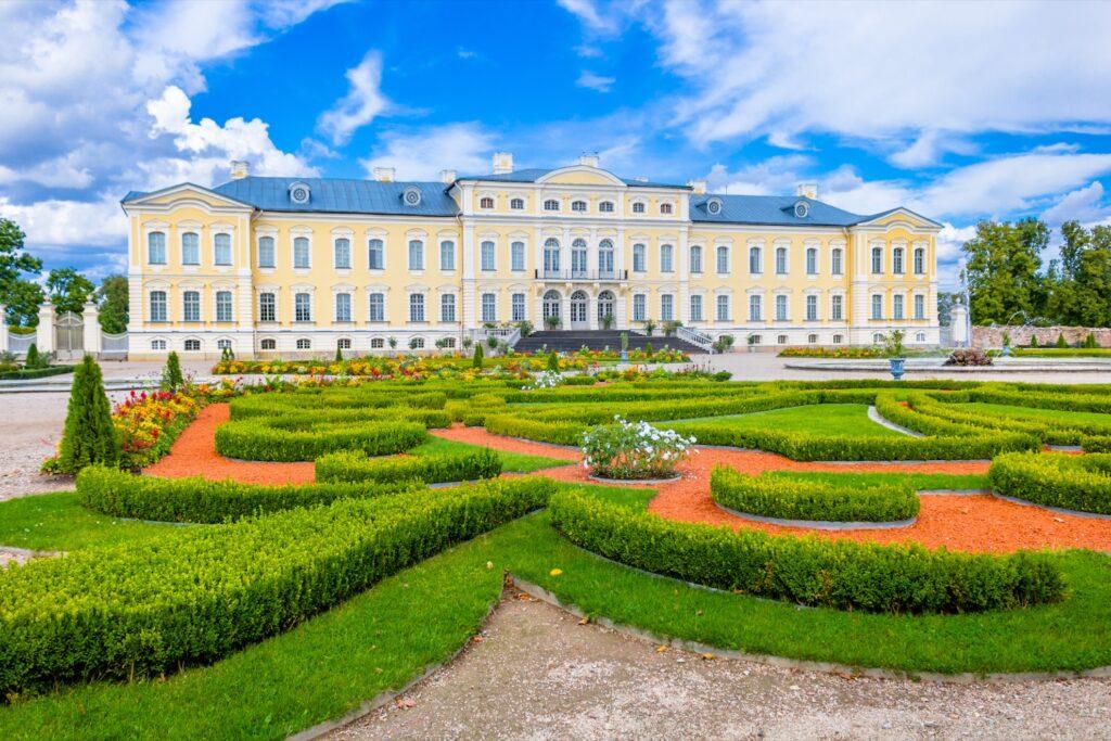 Rundale Palace in Pilsrundale, Latvia.