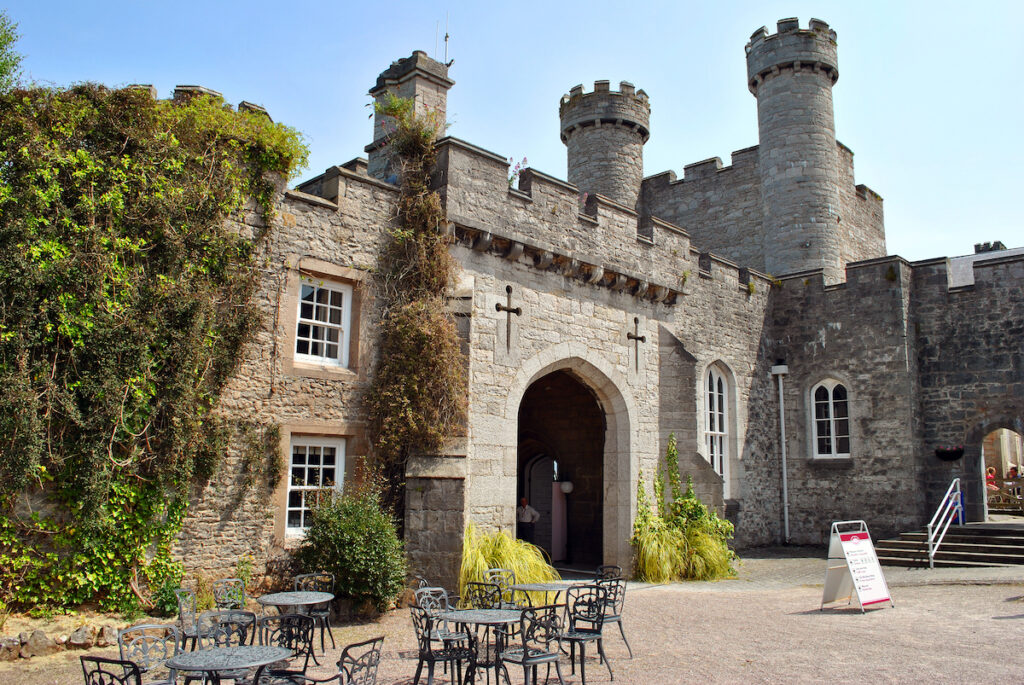 Ruthin Castle in Wales.