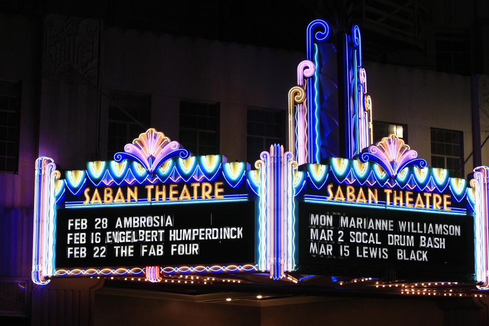Saban Theatre in Beverly Hills