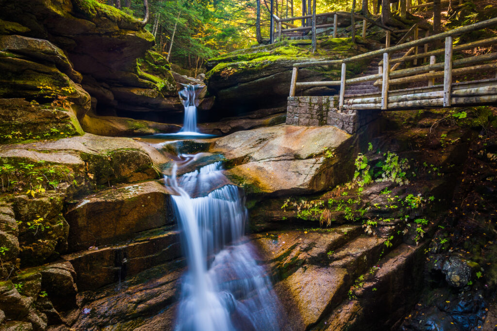 Sabbaday Falls in New Hampshire.