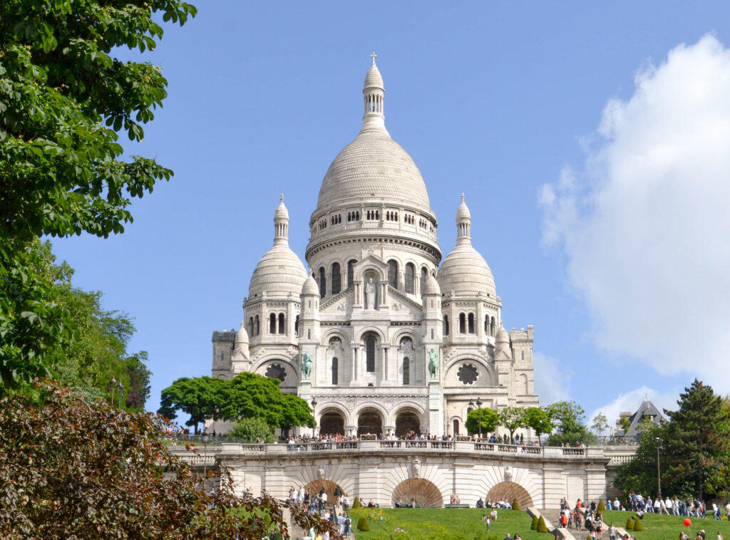 Sacre-Coeur Basilica in Montmartre, Paris.