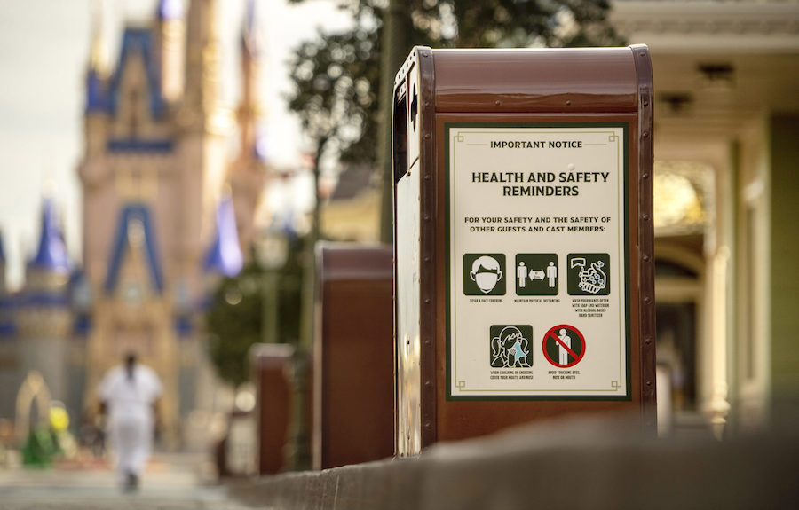 Safety reminders at Disney World.