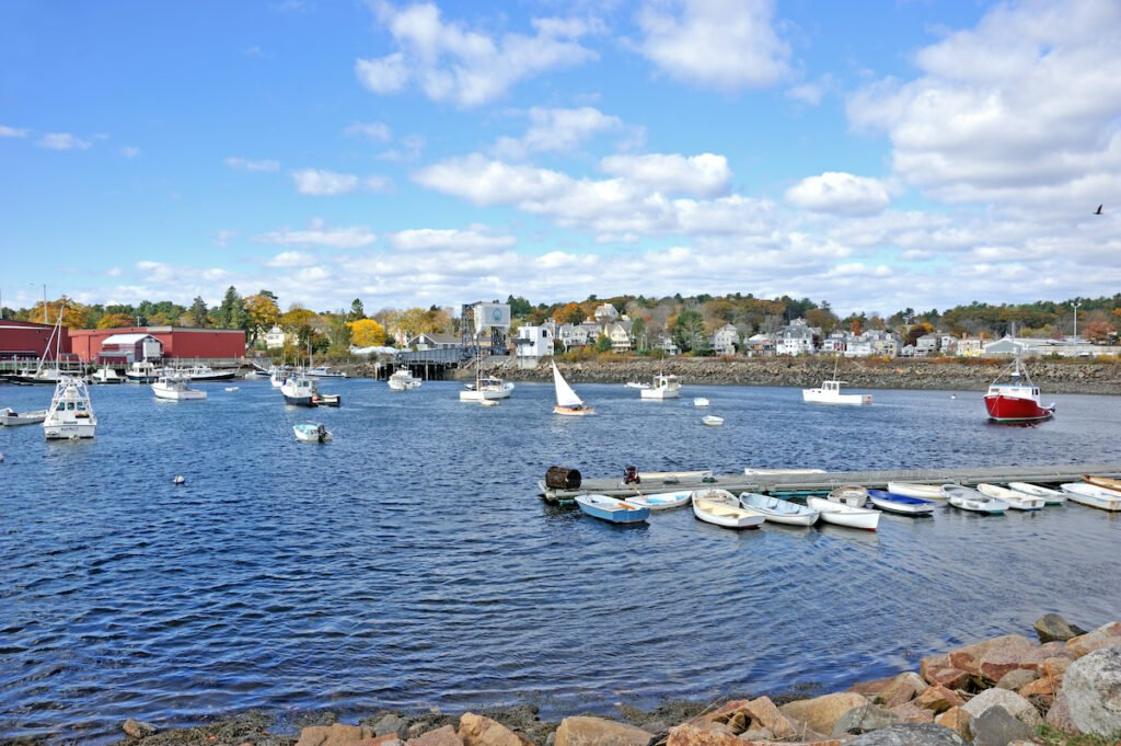 Sailboats in the harbor of Manchester-By-The-Sea, Massachusetts.