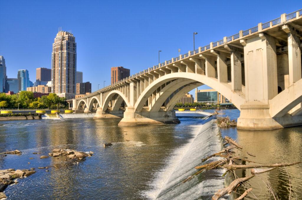 Saint Anthony Falls in Minneapolis.