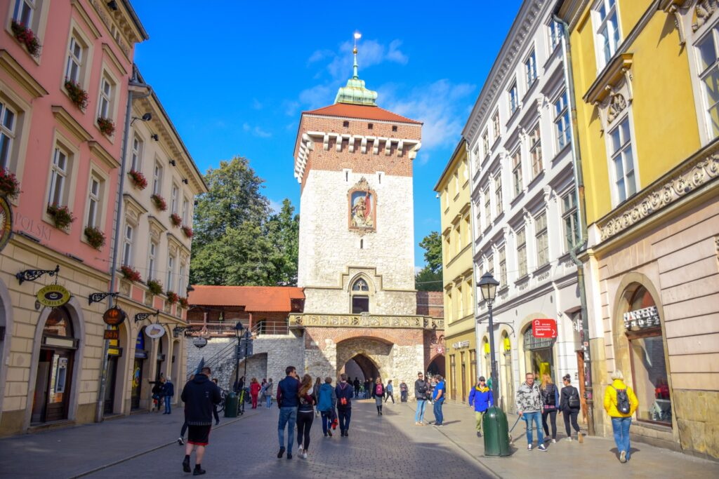 Saint Florian's Gate in Krakow, Poland.