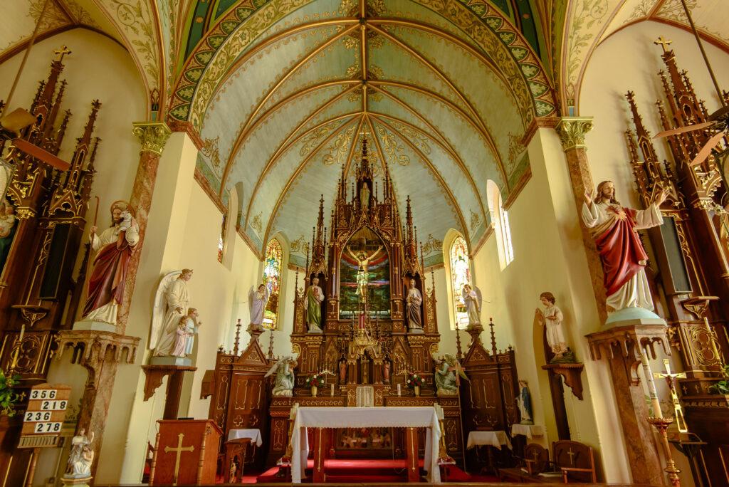 Saint Mary Catholic Church in High Hill, Texas.