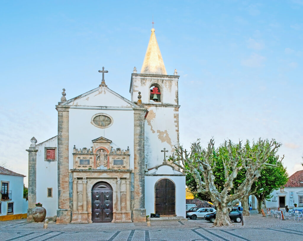 Saint Mary's Church and Square in Obidos.