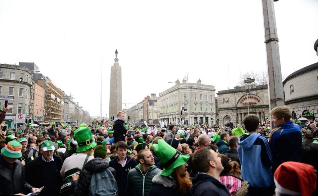 Saint Patrick's Day in Dublin, Ireland.