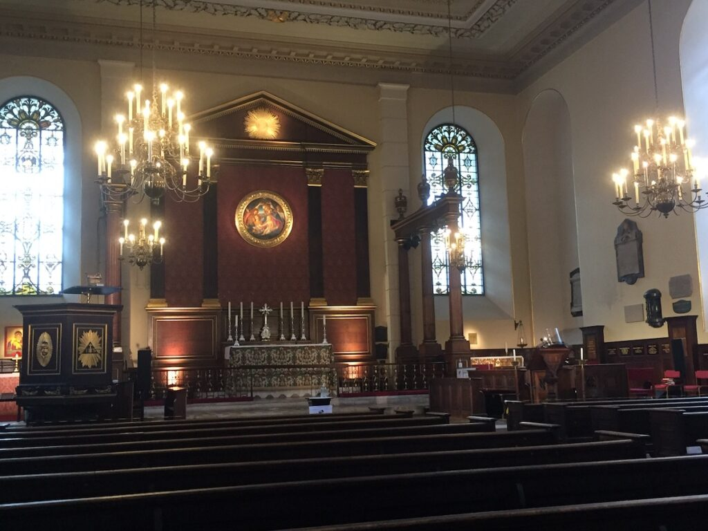 Saint Paul's Church near Covent Garden.