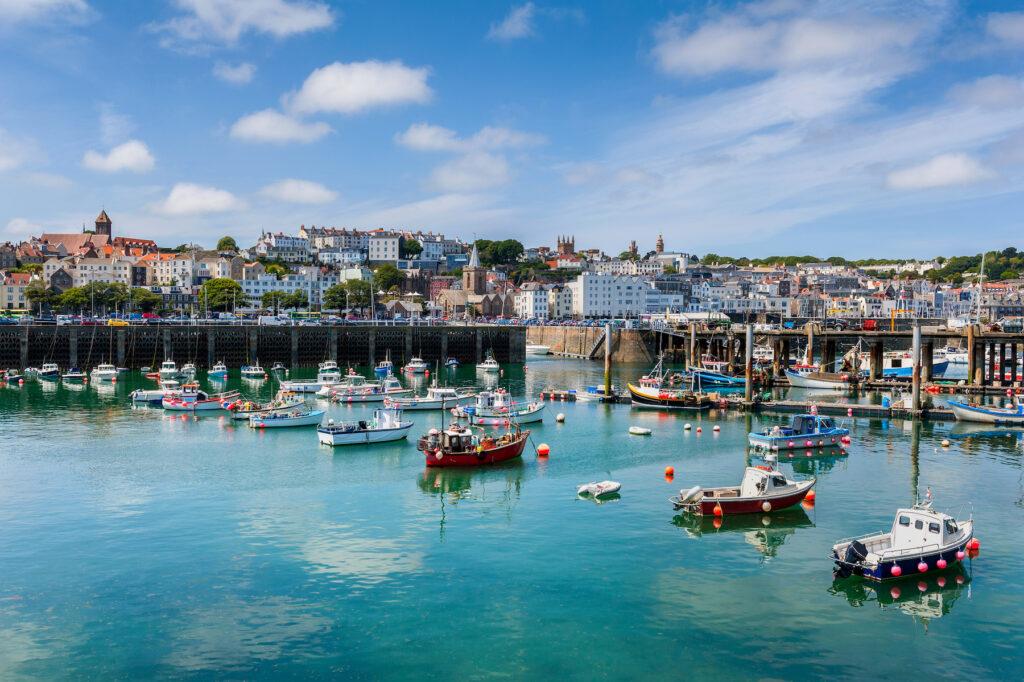 Saint Peter Port on Guernsey Island.