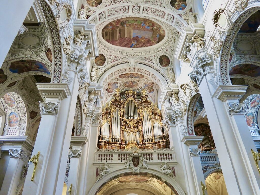 Saint Stephen's Cathedral in Passau, Germany.